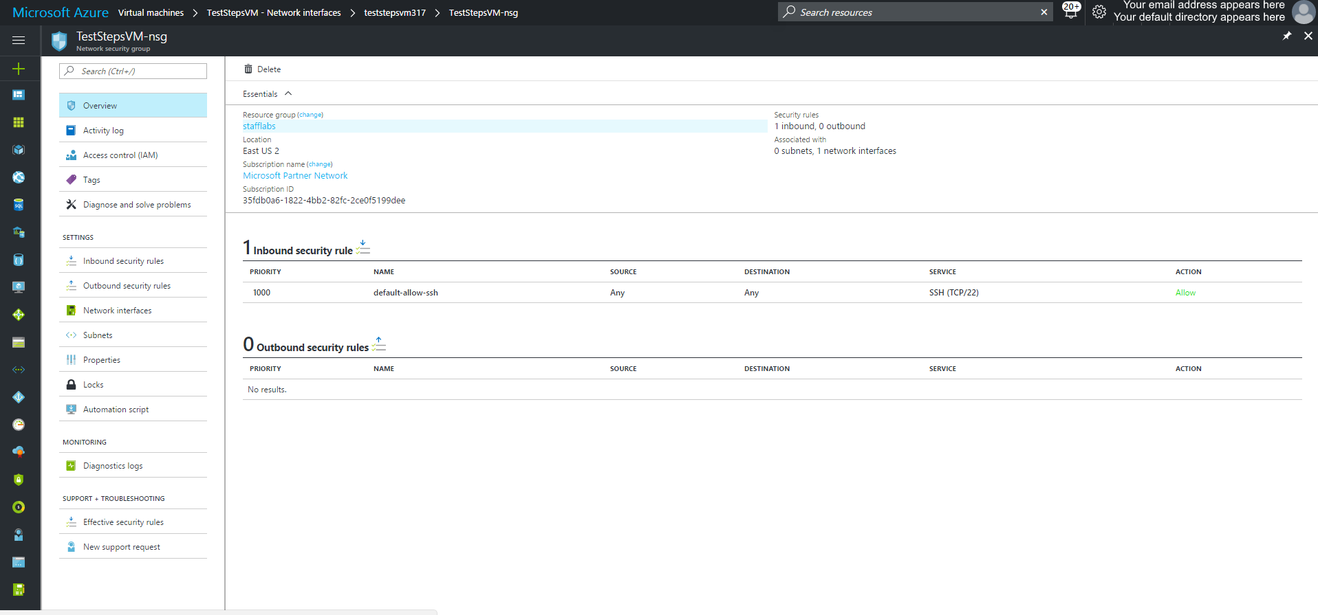Configure Azure Networking - www bonsaiframework com - Bonsai Framework